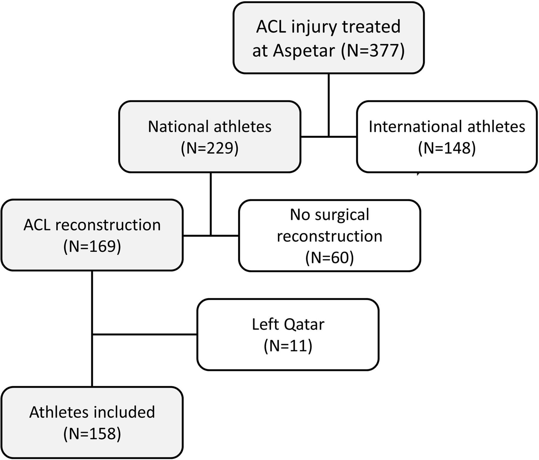 Likelihood of acl graft rupture not meeting six clinical download figure open in new tab download powerpoint figure 1 flow chart nvjuhfo Gallery