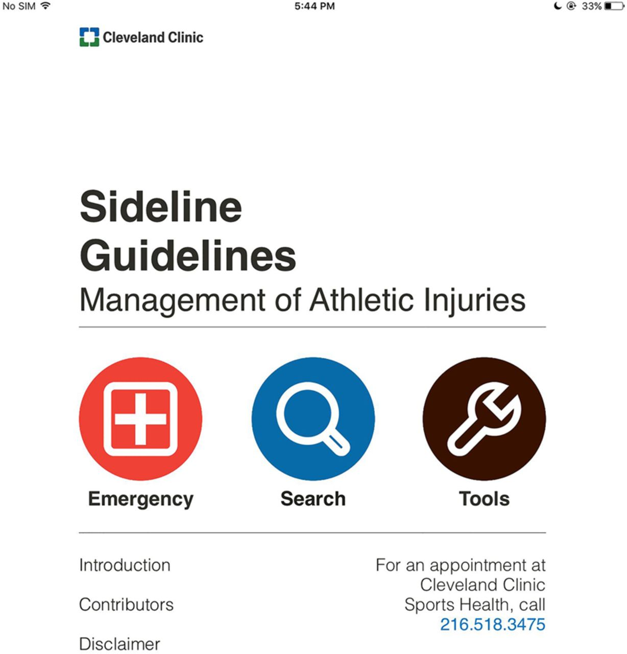 Sideline Guidelines' by Cleveland Clinic Innovations: a
