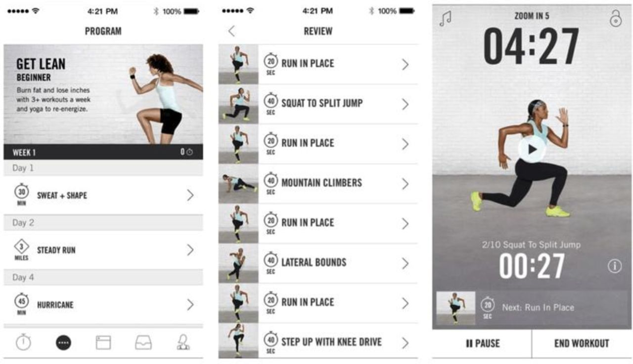 Desacuerdo filtrar animación  Nike+ Training Club, an ultimate personal trainer: mobile app user guide |  British Journal of Sports Medicine