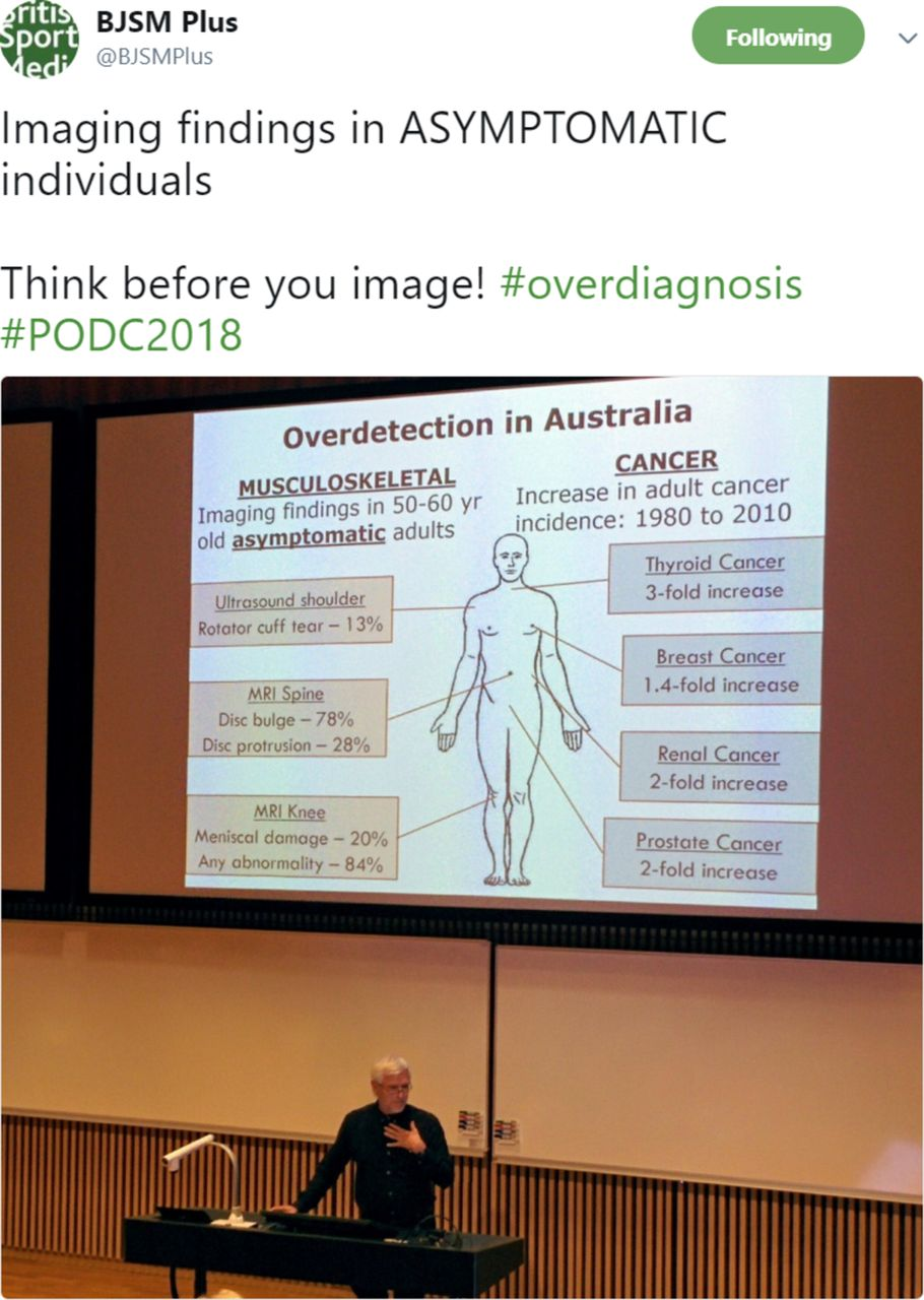 Preventing overdiagnosis and the harms of too much sport and