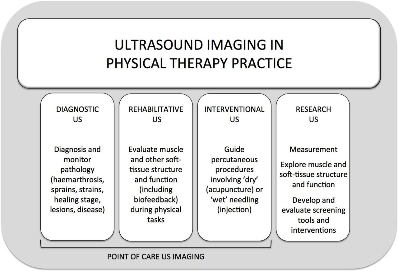 Imaging with ultrasound in physical therapy: What is the