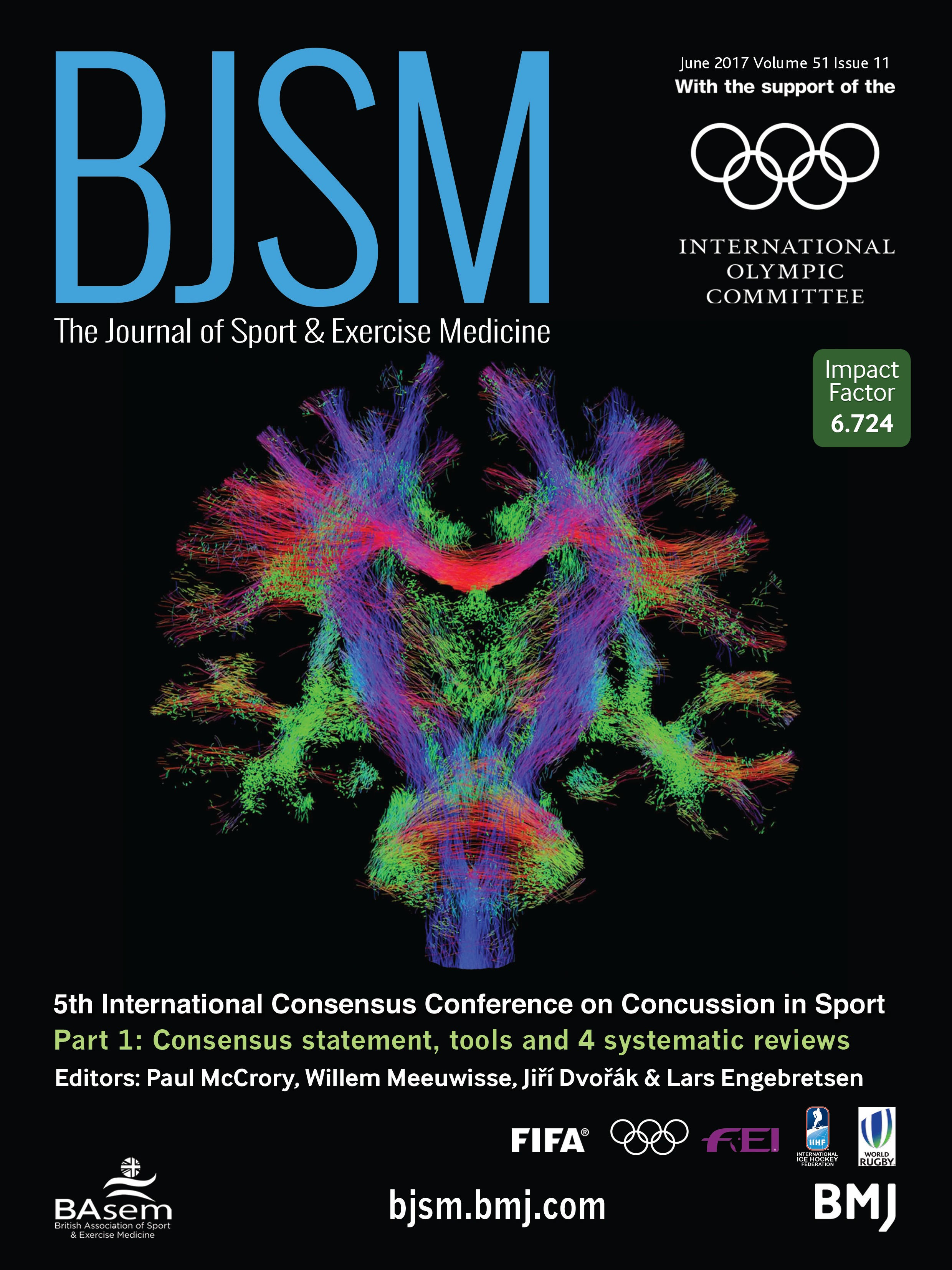 Consensus statement on concussion in sport—the 5th international