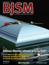 British Journal of Sports Medicine: 43 (11)