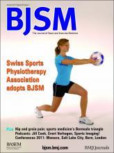 British Journal of Sports Medicine: 45 (1)