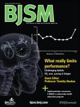 British Journal of Sports Medicine: 46 (1)