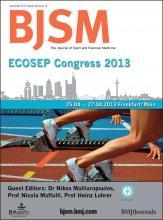 British Journal of Sports Medicine: 46 (16)