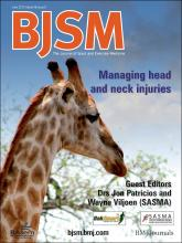 British Journal of Sports Medicine: 46 (8)