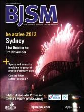 British Journal of Sports Medicine: 46 (9)