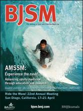 British Journal of Sports Medicine: 47 (1)