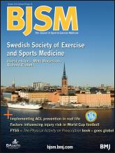 British Journal of Sports Medicine: 47 (15)