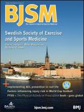 British Journal of Sports Medicine: 47 (15)