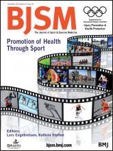 British Journal of Sports Medicine: 47 (16)
