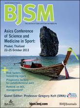 British Journal of Sports Medicine: 47 (6)
