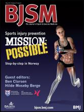 British Journal of Sports Medicine: 47 (8)