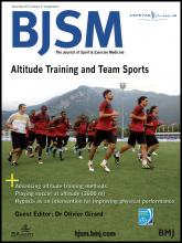 British Journal of Sports Medicine: 47 (Suppl 1)