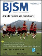 British Journal of Sports Medicine: 47 (Suppl 1)