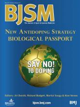 British Journal of Sports Medicine: 48 (10)