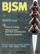 British Journal of Sports Medicine: 48 (21)