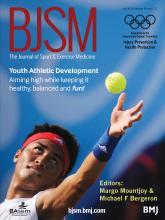 British Journal of Sports Medicine: 49 (13)