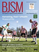 British Journal of Sports Medicine: 49 (18)
