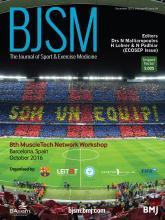 British Journal of Sports Medicine: 49 (24)