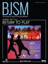 British Journal of Sports Medicine: 49 (3)