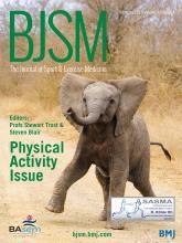 British Journal of Sports Medicine: 49 (4)