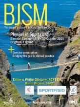 British Journal of Sports Medicine: 49 (5)