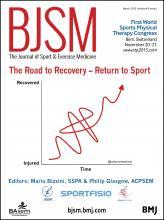 British Journal of Sports Medicine: 49 (6)