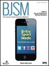 British Journal of Sports Medicine: 49 (8)