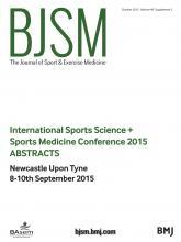 British Journal of Sports Medicine: 49 (Suppl 2)