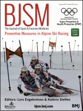 British Journal of Sports Medicine: 50 (1)