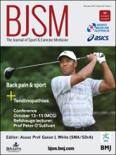 British Journal of Sports Medicine: 50 (4)