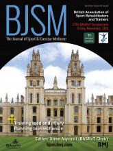 British Journal of Sports Medicine: 50 (8)