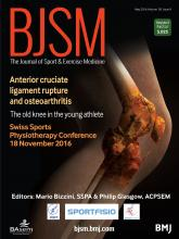 British Journal of Sports Medicine: 50 (9)