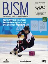 British Journal of Sports Medicine: 51 (1)