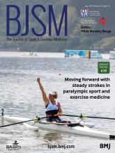 British Journal of Sports Medicine: 51 (14)