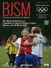 British Journal of Sports Medicine: 51 (4)