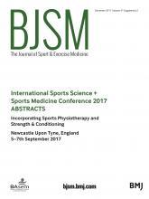 British Journal of Sports Medicine: 51 (Suppl 2)