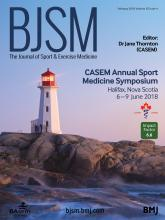 British Journal of Sports Medicine: 52 (4)