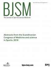 British Journal of Sports Medicine: 52 (Suppl 1)