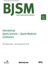 British Journal of Sports Medicine: 52 (Suppl 3)