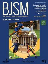 British Journal of Sports Medicine: 53 (10)