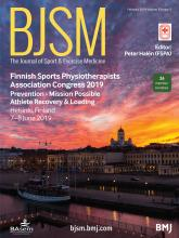 British Journal of Sports Medicine: 53 (3)