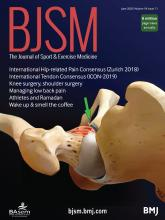 British Journal of Sports Medicine: 54 (11)