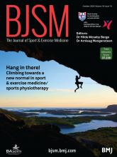 British Journal of Sports Medicine: 54 (19)
