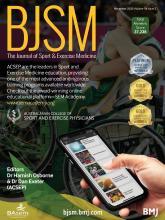 British Journal of Sports Medicine: 54 (21)