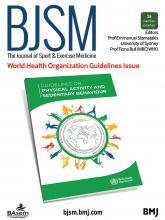 British Journal of Sports Medicine: 54 (24)