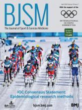 British Journal of Sports Medicine: 54 (7)