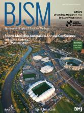 British Journal of Sports Medicine: 54 (8)